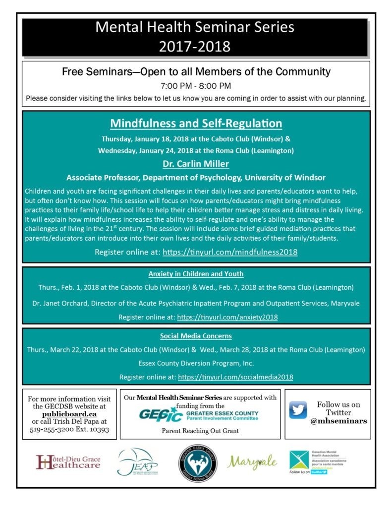 Mental Health Seminar Series