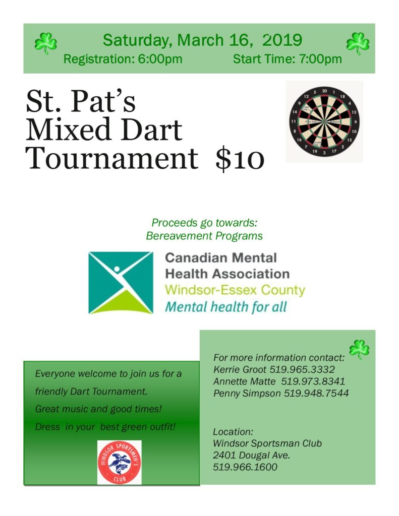 St  Pat's Mixed Dart Tournament