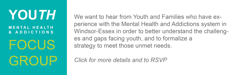 Youth Mental Health & Addictions Focus Group
