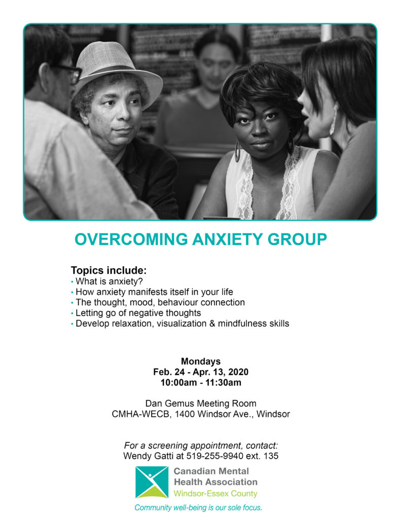 Overcoming Anxiety Group