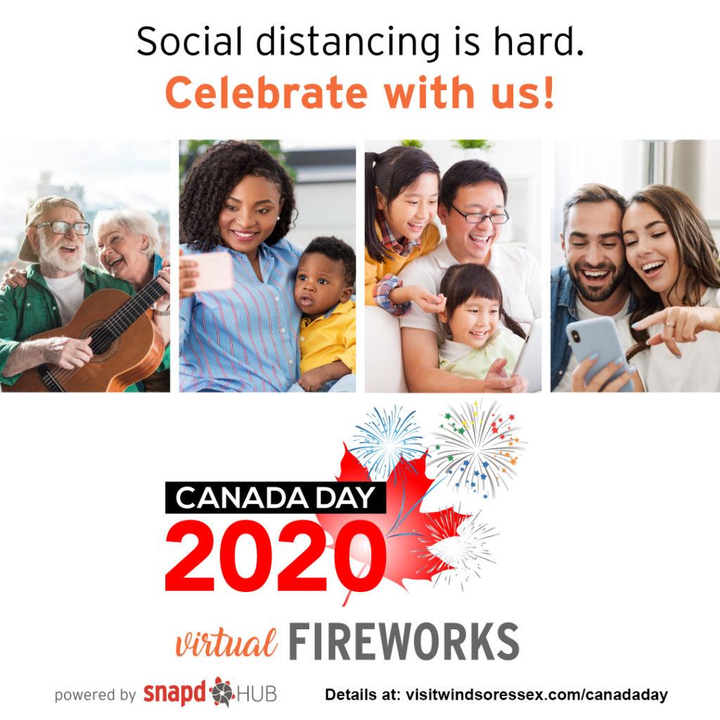 Canada Day Virtual fireworks