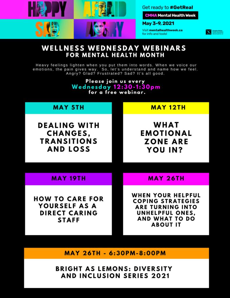 Wellness Wednesday Webinars